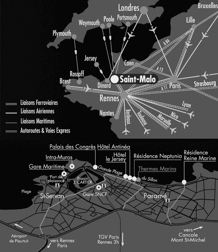 Hôtel St-Malo : Plan d'accès