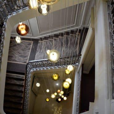 luminaire de l'escalier