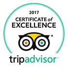 Certificate of Excellence 2017 TripAdvisor