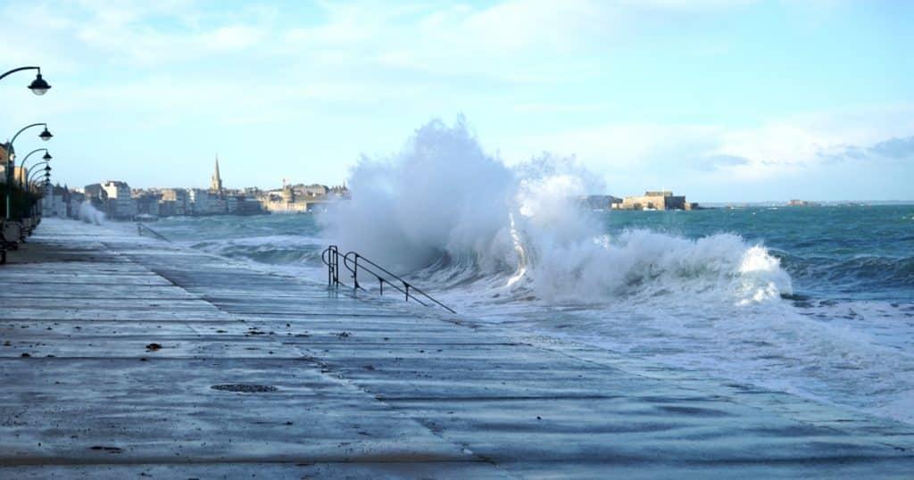 Les grandes marées à Saint-Malo 1